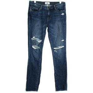 Paige Womens Jimmy Jimmy Skinny Blue Jeans Size 26